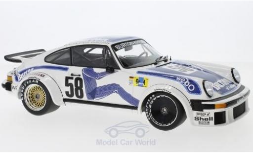 Porsche 934 1/18 Minichamps No.58 Kremer Racing 24h Le Mans 1977 B.Wollek/Steve/P.Gurdjian miniature