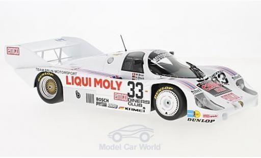 Porsche 956 1983 1/18 Minichamps K No.33 Brun Motorsport Liqui Moly 1000km Spa 1983 H-J.Stuck/H.Grohs/W.Brun miniature