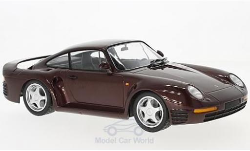Porsche 959 1/18 Minichamps metallise rouge 1987 miniature