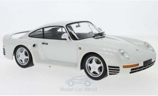 Porsche 959 1987 1/18 Minichamps metallise blanche miniature