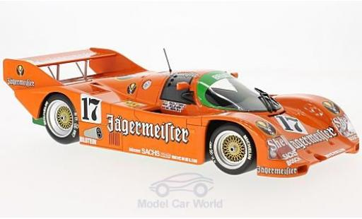 Porsche 962 1986 1/18 Minichamps C No.17 Brun Motorsport Jägermeister 1000 Km Spa 1986 T.Boutsen/F.Jelinski/W.Brun miniature