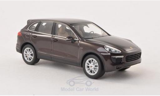 Porsche Cayenne 1/43 Minichamps metallise marron 2014 Diesel (92A) miniature