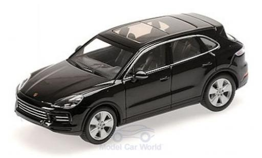 Porsche Cayenne 1/43 Minichamps metallise black 2017 diecast model cars