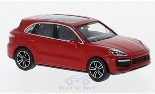 Porsche Cayenne Turbo 1/87 Minichamps rouge 2017 miniature