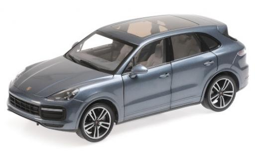 Porsche Cayenne Turbo S 1/18 Minichamps metallise bleue 2017 miniature