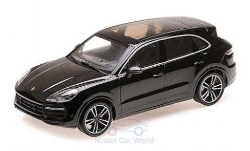 Porsche Cayenne Turbo S 1/18 Minichamps black 2017 diecast model cars