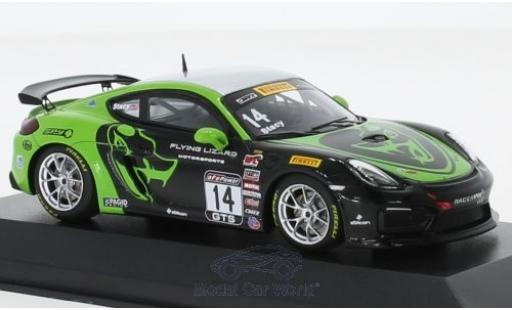 Porsche Cayman 1/43 Minichamps GT4 Clubsport MR No.14 Flying Lizard Motorsports Pirelli World Challenge 2017 N.Stacy miniature