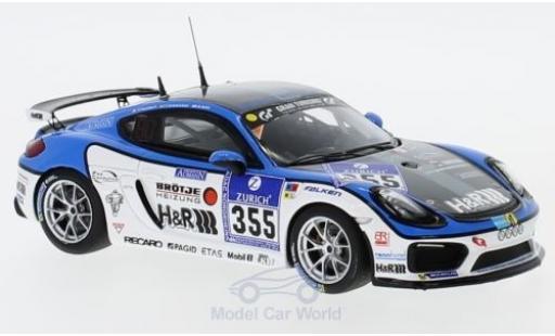 Porsche Cayman GT4 Clubsport 1/43 Minichamps No.355 Mühlner Motorsport 24h Nürburgring 2016 D.Bohr/F.Schmickler/P.Humbert miniature