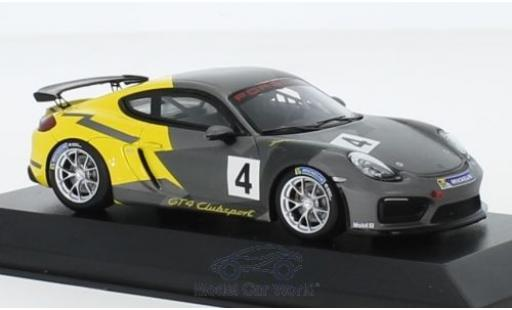 Porsche Cayman 1/43 Minichamps GT4 Clubsport No.4 2016 Testcar Weissach miniature