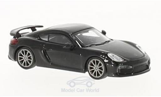 Porsche Cayman 1/87 Minichamps GT4 noire 2016 miniature
