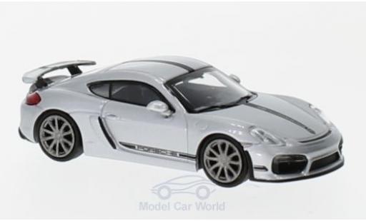 Porsche Cayman 1/87 Minichamps GT4 grise/noire 2016 miniature