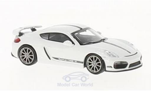 Porsche Cayman 1/87 Minichamps GT4 blanche 2016 miniature