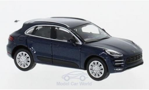 Porsche Macan Turbo 1/87 Minichamps metallise bleue 2013 miniature