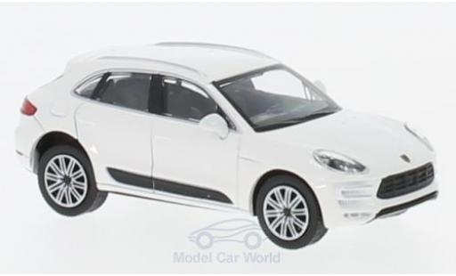 Porsche Macan Turbo 1/87 Minichamps Turbo blanche 2013 miniature