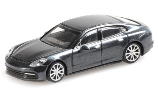 Porsche Panamera 4S 1/87 Minichamps metallise grey 2015 diecast model cars