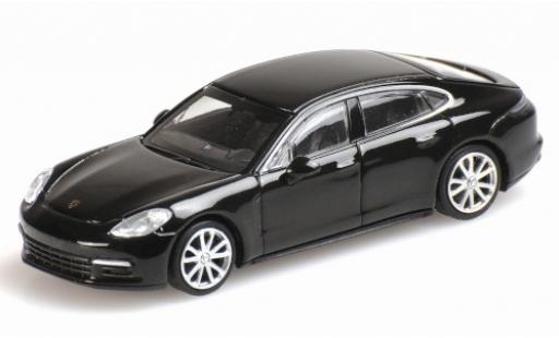 Porsche Panamera 4S 1/87 Minichamps black 2015 diecast model cars