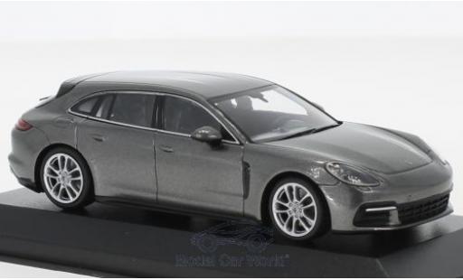 Porsche Panamera Sport Turismo 1/43 Minichamps 4S metallise grey 2017 diecast model cars