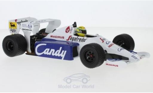 Toleman HART 1/18 Minichamps Hart TG184 No.19 Candy Formel 1 GP Monaco 1984 A.Senna coche miniatura