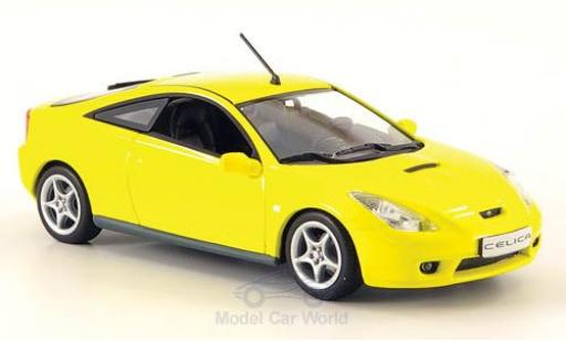 Toyota Celica 1/43 Minichamps (T23) yellow 2000 diecast model cars