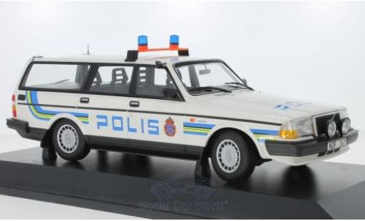 Volvo 240 1/18 Minichamps GL Break Polis Sweden 1986 miniature