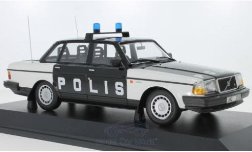 Volvo 240 1/18 Minichamps GL Polis Sweden 1986 diecast model cars