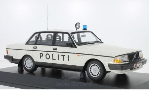 Volvo 240 1/18 Minichamps GL Politi Danmark 1986 miniature