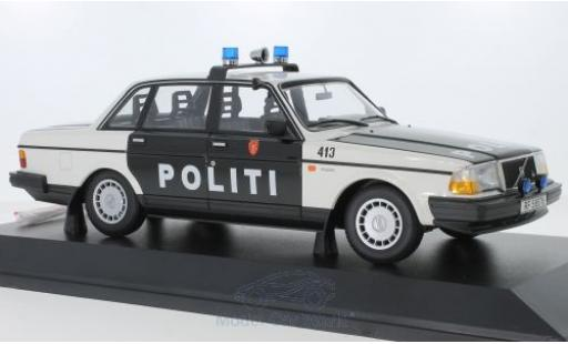 Volvo 240 1/18 Minichamps GL Politi Norway 1986 miniature
