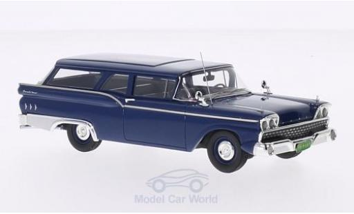 Ford Ranch Wagon 1/43 Motorhead bleue 1959 miniature