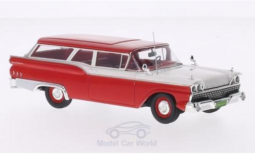 Ford Ranch Wagon 1/43 Motorhead rouge/blanche 1959 miniature