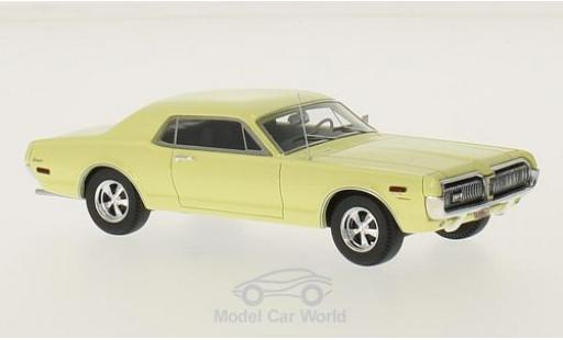 Mercury Cougar 1/43 Motorhead jaune 1968 miniature