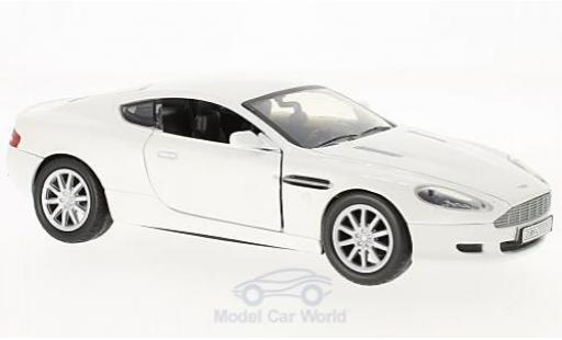 Aston Martin DB9 1/24 Motormax DB 9 Coupe metallise blanche miniature
