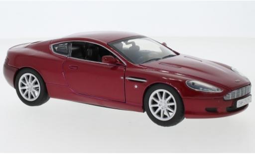 Aston Martin DB9 1/18 Motormax metallise rouge miniature