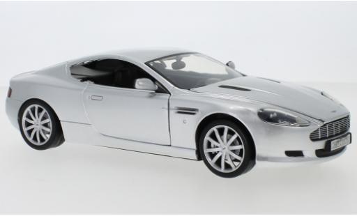 Aston Martin DB9 1/18 Motormax grey diecast model cars