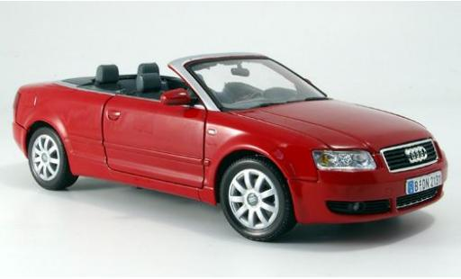 Audi A4 1/18 Motormax Cabriolet red 2004 diecast model cars