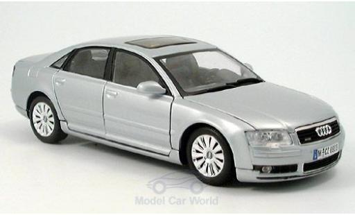 Audi A8 1/18 Motormax grise 2004 miniature