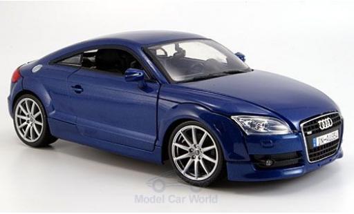 Audi TT 1/18 Motormax Coupe bleue 2007 miniature