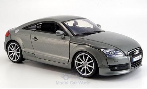 Audi TT 1/18 Motormax Coupe métallisé grise 2007 miniature