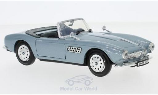Bmw 507 1/24 Motormax metallise blue diecast model cars