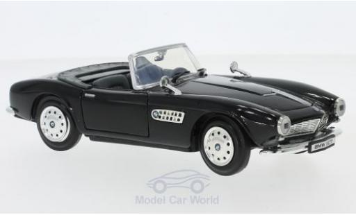 Bmw 507 1/24 Motormax black diecast model cars