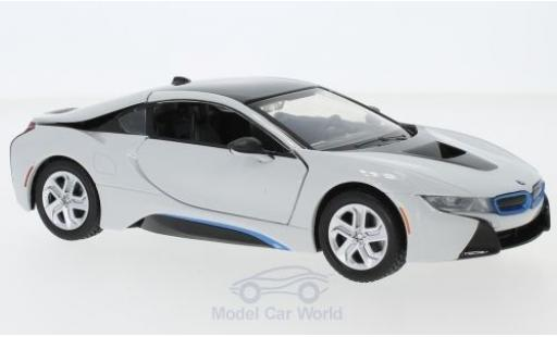 Bmw i8 1/24 Motormax white 2018 diecast model cars