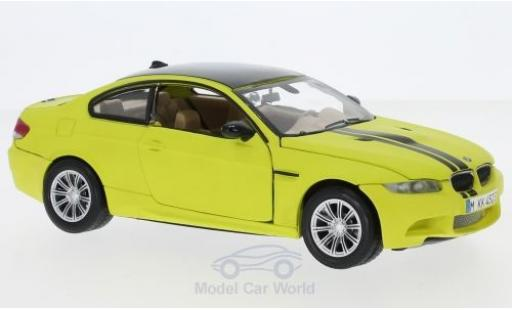 Bmw M3 1/24 Motormax Coupe matt-yellow/black 2008 diecast model cars