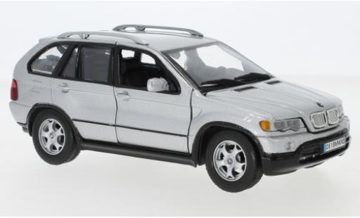 Bmw X5 1/24 Motormax (E53) gris coche miniatura