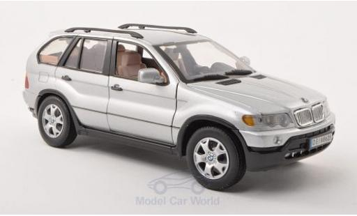 Bmw X5 1/18 Motormax grey diecast model cars