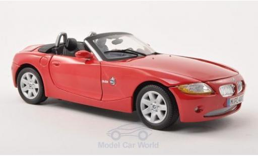 Bmw Z4 E85 1/18 Motormax  red 2008 diecast model cars