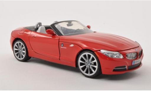 Bmw Z4 1/24 Motormax (E85) rouge 2010 Verdeck ouvert sans Vitrine miniature