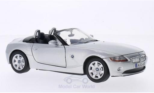 Bmw Z4 E85 1/24 Motormax  grey 2003 diecast model cars