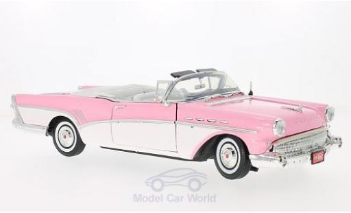 Buick Roadmaster 1/18 Motormax Convertible rose/blanche 1957 miniature