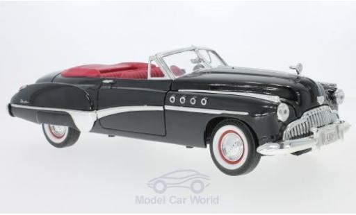 Buick Roadmaster 1/18 Motormax Convertible noire/rouge 1949 miniature