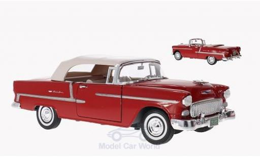 Chevrolet Bel Air 1/18 Motormax Convertible rouge 1955 Softtop und Persenning liegen bei miniature