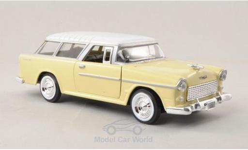 Chevrolet Bel Air 1/24 Motormax Nomad yellow/white 1955 diecast model cars